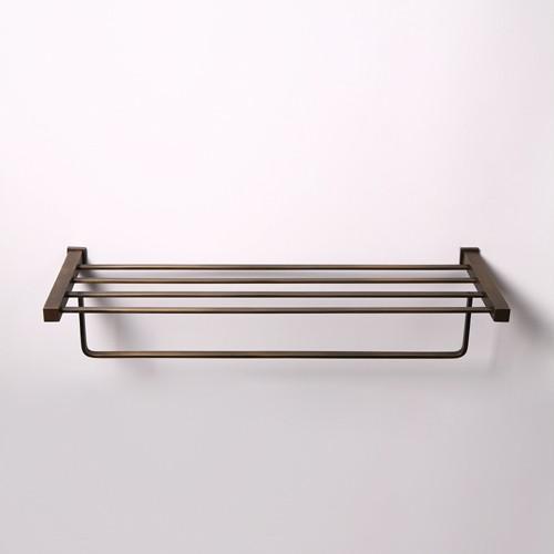 antique bronze brass hotel style towel rack shelf bar ebay. Black Bedroom Furniture Sets. Home Design Ideas