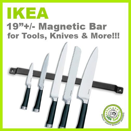 new ikea 19 magnetic tool knife holder rack magnet bar ebay. Black Bedroom Furniture Sets. Home Design Ideas