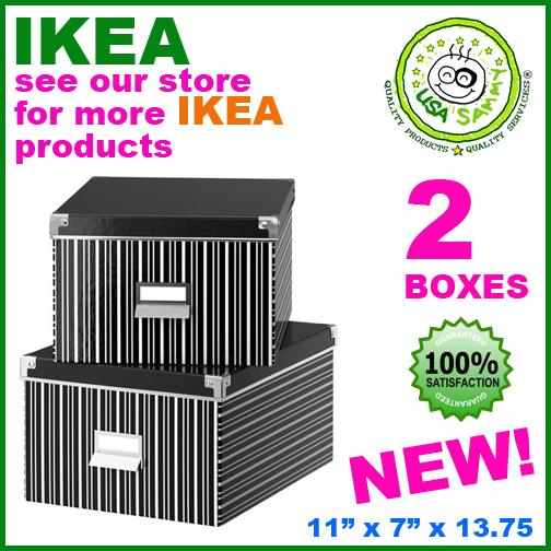 Ikea 2 x boxes box organizer lid letter size fit besta ebay for Ikea besta storage boxes