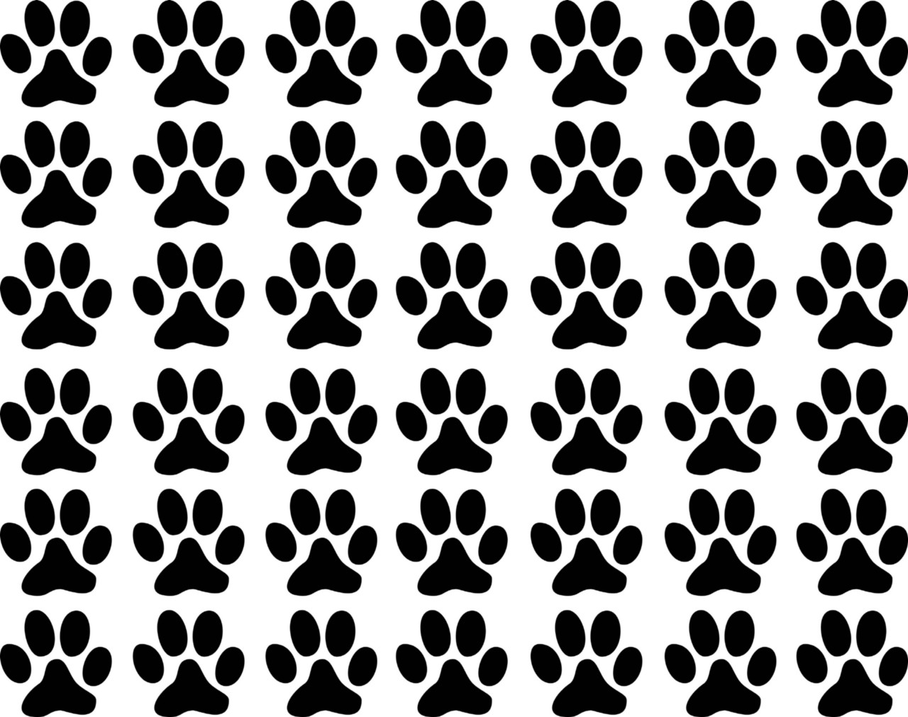 42 1 inch Paw Prints Tracks dog cat Vinyl Decal Wall Art Decor