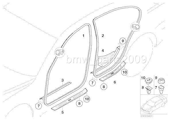10 bmw e65 e66 e84 x1 e85 z4 f01 f02 f10 door sill clip