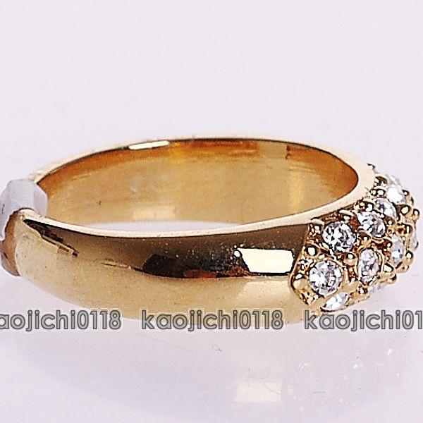 18K Gold Plated band classic Fashion Ring 091546