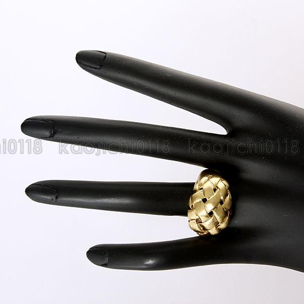 New Style 18K Yellow Gold Plated Weave Band Ring XL012