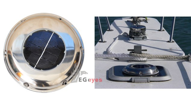 Solar powered attic fan intake exhaust fan vent boat - Solar powered extractor fan bathroom ...