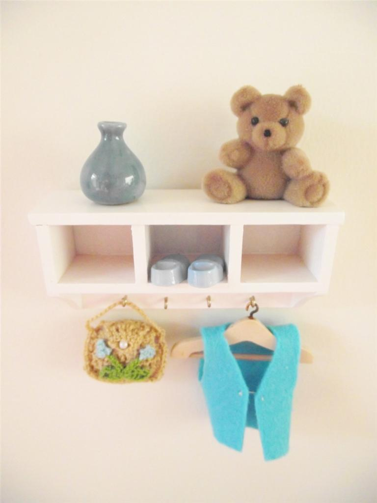 Miniature Wooden Dolls House Furniture Nursery Bedroom Wall Cabinet Ebay
