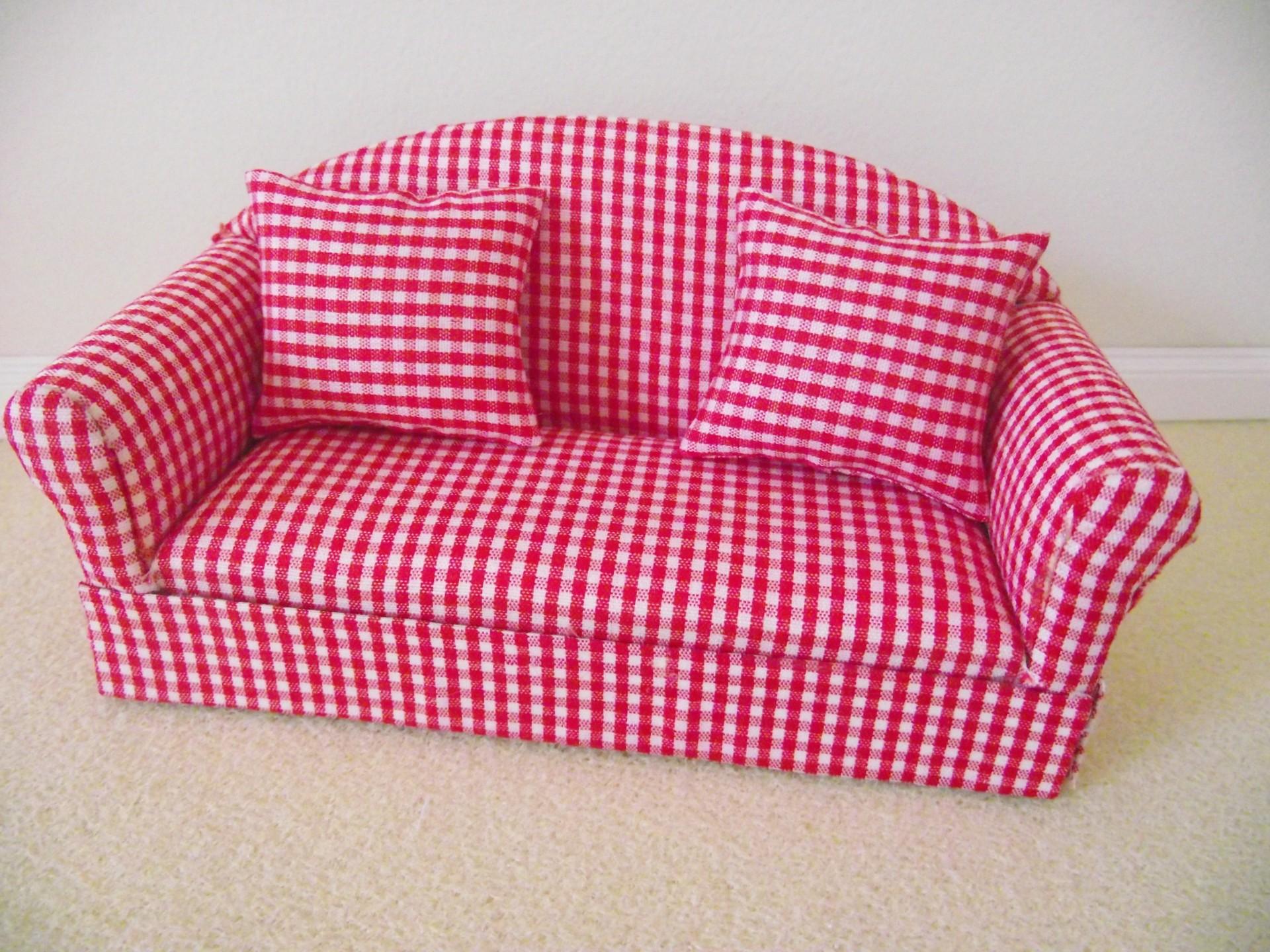 Gingham Sofa. Blue Gingham Settees And Gingham On Pinterest. Sofa ...
