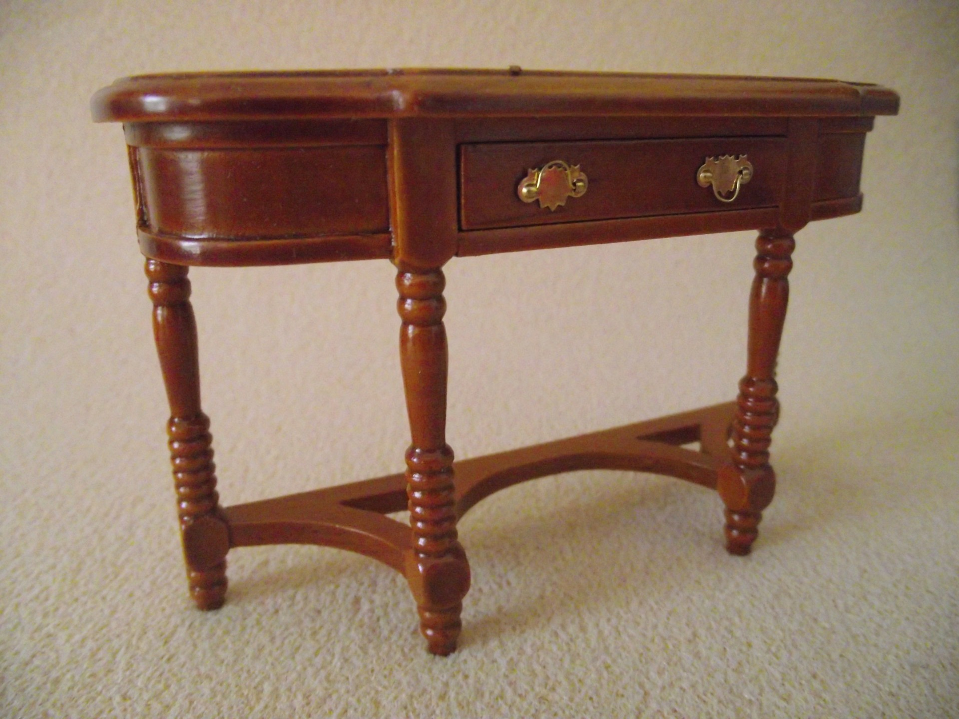Miniature Doll House 12th Scale Dark Wooden Furniture Hall Table Cabinet 0008 Ebay