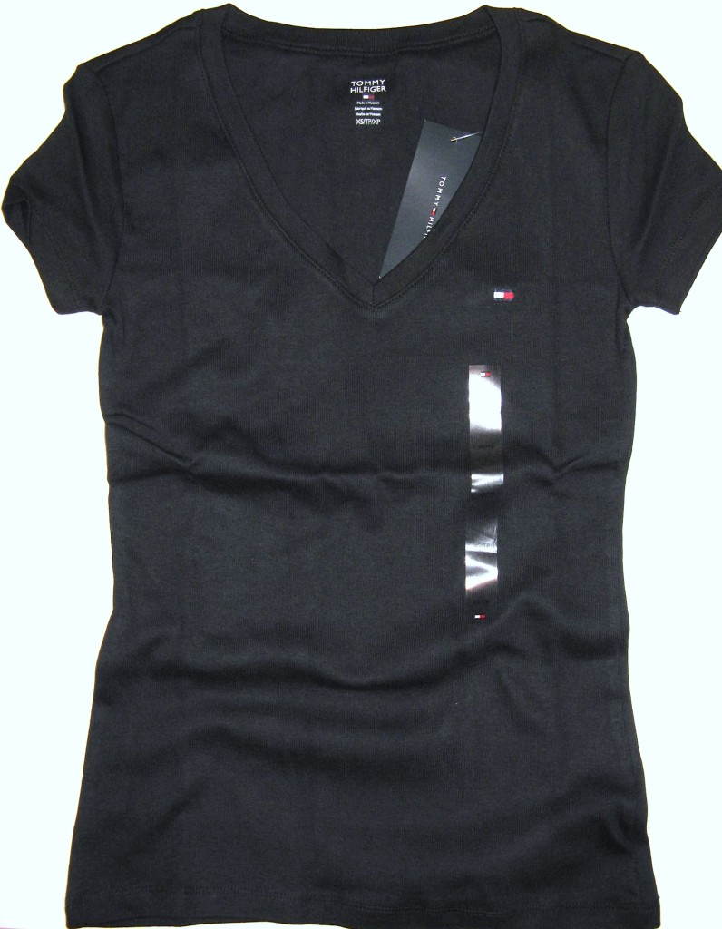 womens tommy hilfiger v neck t shirt nwt xs s m 29 ebay. Black Bedroom Furniture Sets. Home Design Ideas