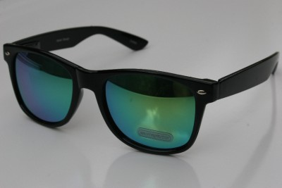 Mirror Tint Sunglasses  new black way 80 039 s vintage retro sunglasses with green mirror