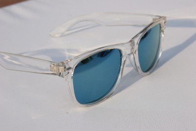 Clear Framed Sunglasses  new clear frame mirror lens way sunglasses 80 039 s vintage retro