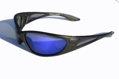 Sunglasses Not Made In China  matte black polarized sunglasses blue mirror lens fishing golfing