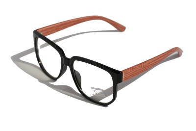 Large Round brown wood frame clear lens Sun-Glasses ...