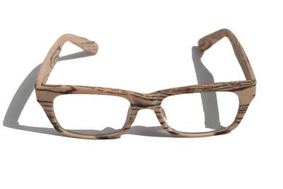 Wood Grain Glasses Frame : Rectangle Smart looking Rx Optical Sun-Glasses Eyewear ...