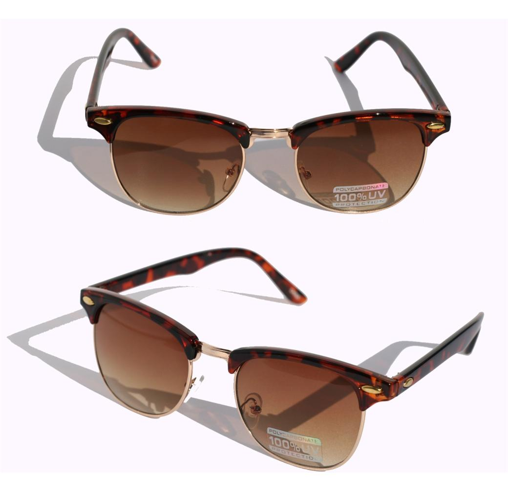 Vintage-Inspired-Classic-Clubmaster-UV400-SunGlasses-Horned-rim-80s