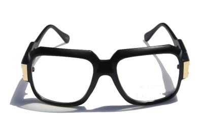matte black clear lens cazal gazelle style sun glasses w gold metal accents dmc