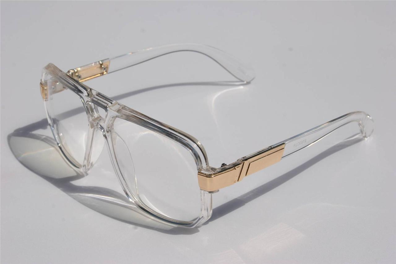 Clear frame old school turbo sun glasses clear lens ...