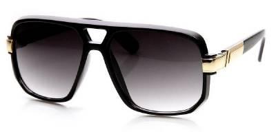 flat top sunglasses 9yum  Classic Square Frame Plastic Flat Top Aviator Sunglasses Turbo Vintage Black