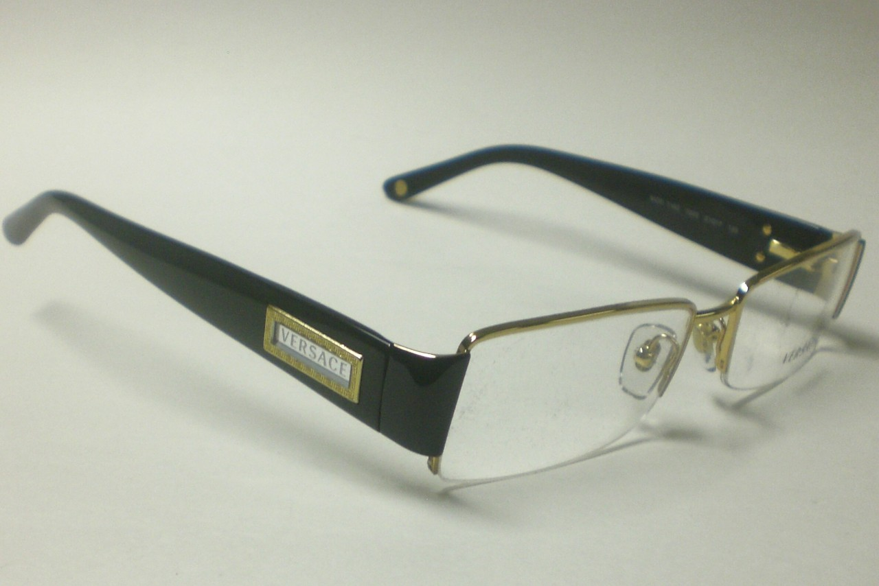 Versace Eyeglass Frames Ve1140 : VERSACE VE1140 VE 1140 GOLD BLACK 1002 Rx GLASSES 51
