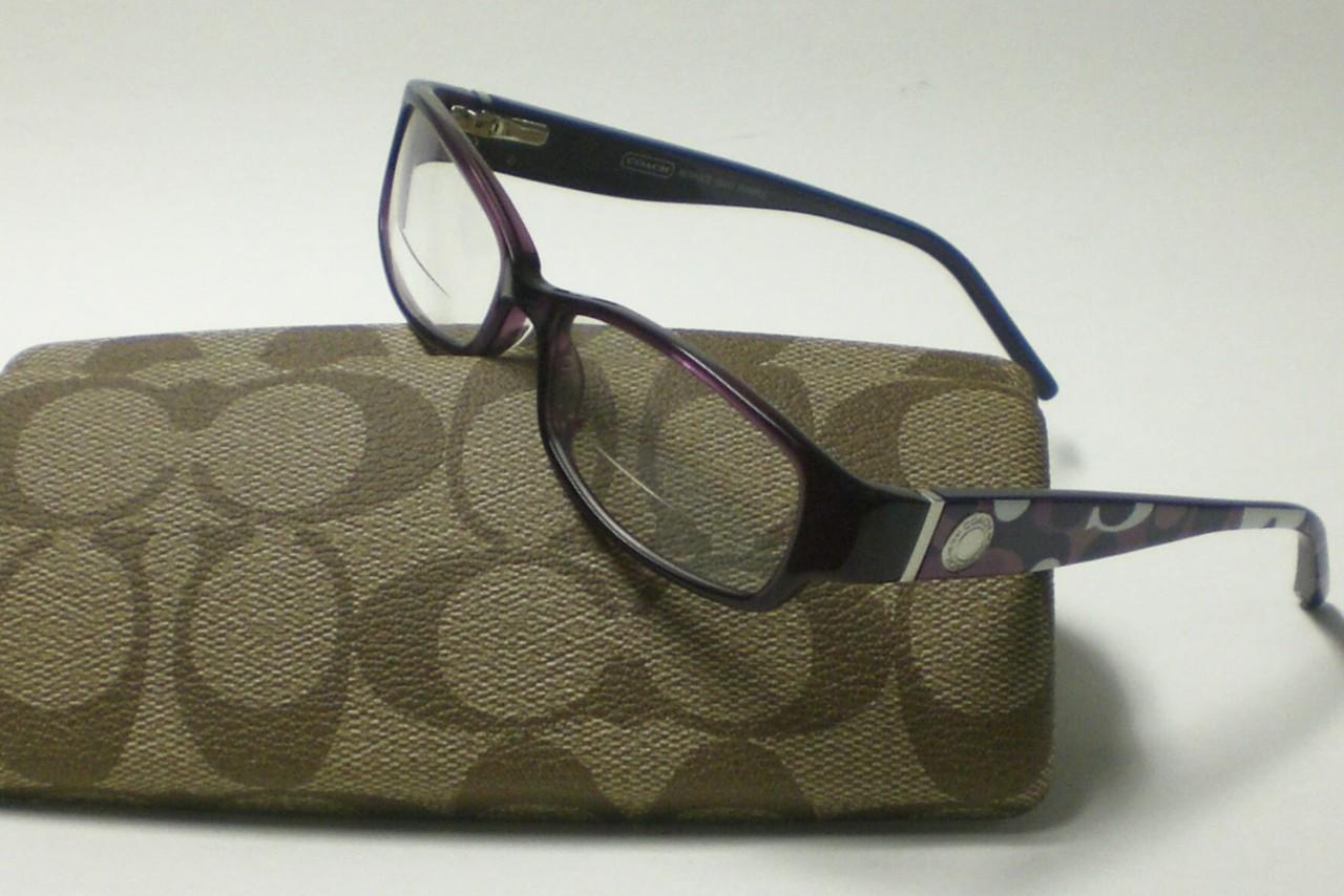 Coach Eyeglass Frames Bernice : COACH BERNICE 844 PURPLE EYEGLASSES AUTHENTIC 51 eBay