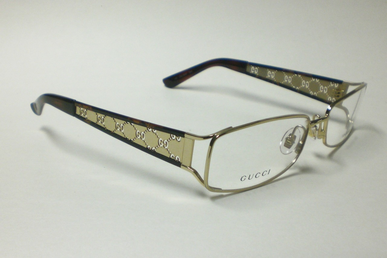 gucci gg2809 gg 2809 gold j5g eyeglasses autentic s 56 ebay