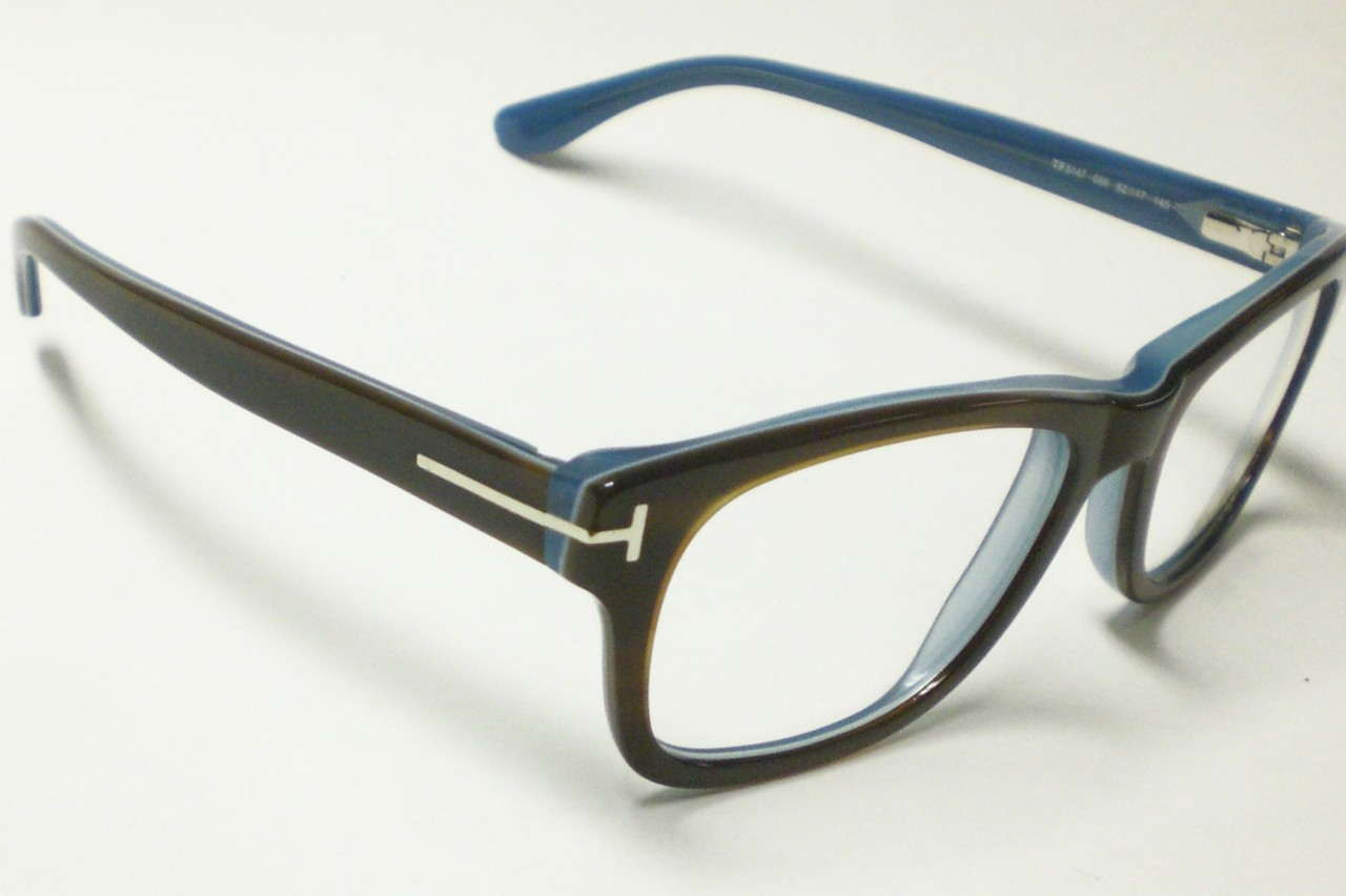 tom ford 5147 brown blue 056 authentic eyeglasses s 52