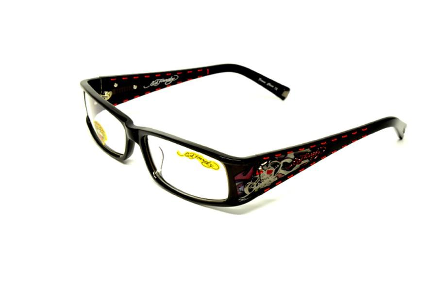 ed hardy eh 0723 black s 56 rx glasses plastic eyeglasses