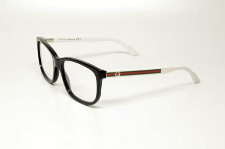 Black Plastic Glasses Frames Turning White : GUCCI GG 1635 RT2 S.54 RX GLASSES BLACK WHITE PLASTIC ...