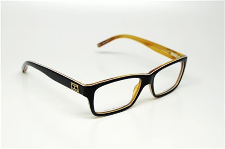 Black Plastic Glasses Frames Turning White : TOMMY HILFIGER TH 1045 UNO S.52 EYEGLASSES BLACK WHITE ...