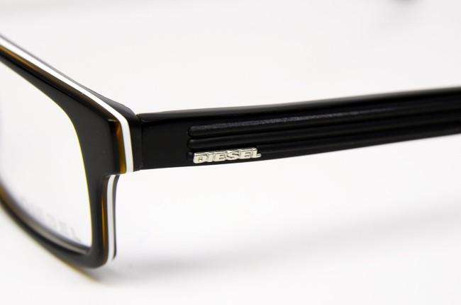 Black Plastic Glasses Frames Turning White : DIESEL DL 5015 05A S 52 EYEGLASSES BLACK WHITE YELLOW ...