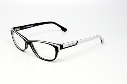 Black Plastic Glasses Frames Turning White : DIESEL DL 5012 005 S.52 EYEGLASSES BLACK WHITE PLASTIC RX ...