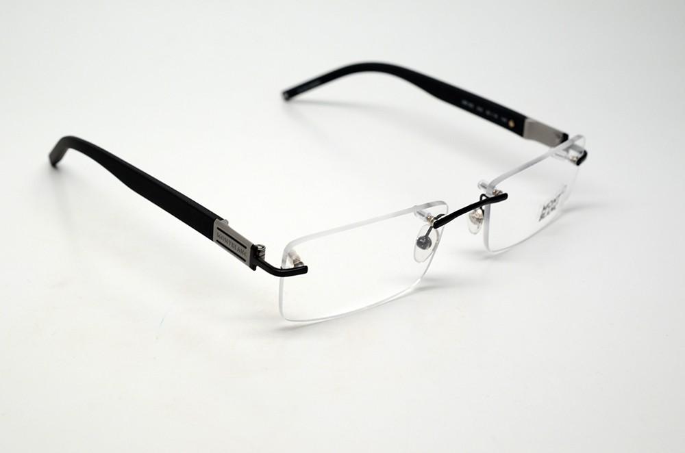 mont blanc mb 382 002 s 55 eyeglasses matte black rimless
