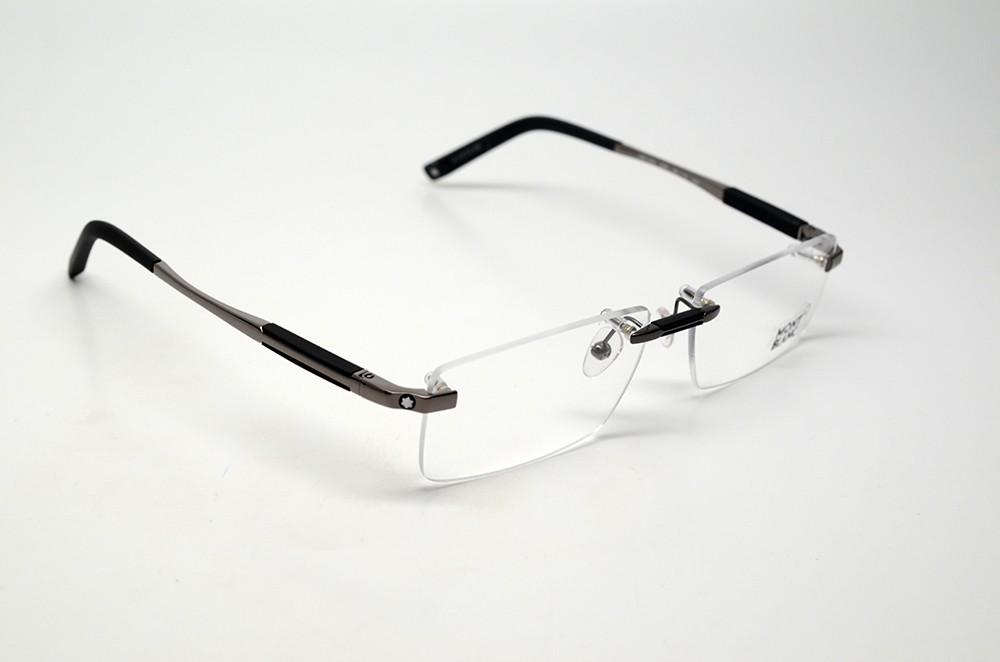 Japanese Frameless Eyeglasses : MONT BLANC MB 349 008 S.56 EYEGLASSES GUNMETAL RIMLESS RX ...