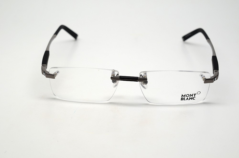 Rimless Glasses Singapore : MONT BLANC MB 349 008 S.56 EYEGLASSES GUNMETAL RIMLESS RX ...