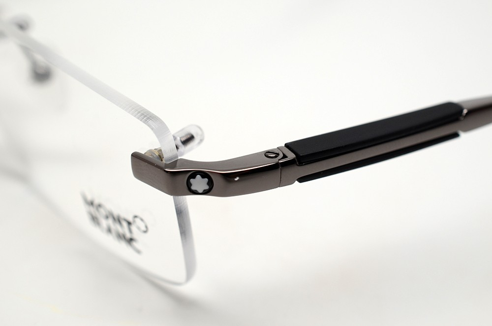 Rimless Glasses Montblanc : MONT BLANC MB 349 008 S.56 EYEGLASSES GUNMETAL RIMLESS RX ...
