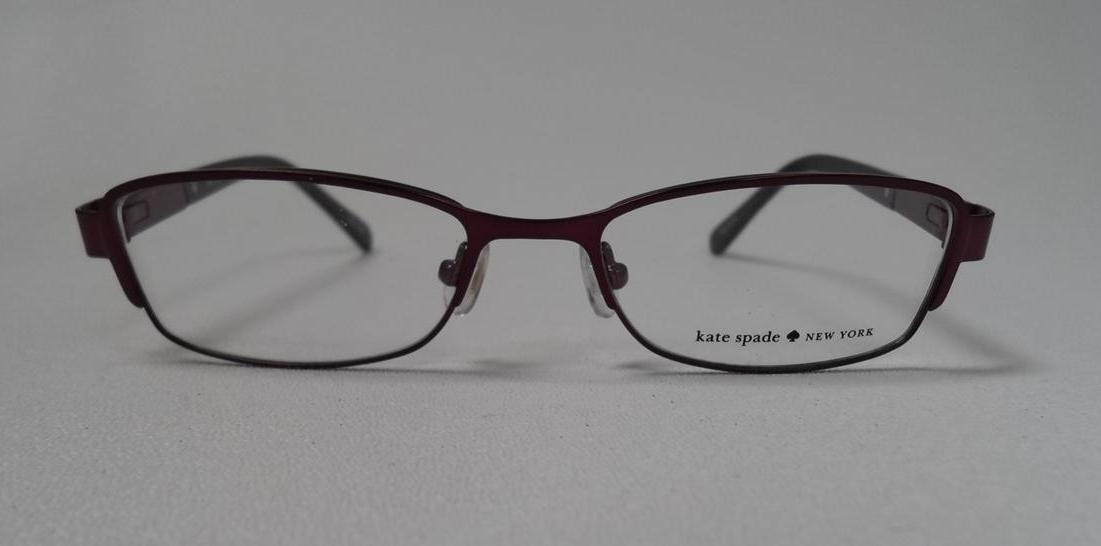 KATE SPADE KS AVERIL 0RU6 S.49 EYEGLASSES PLUM METAL RX ...