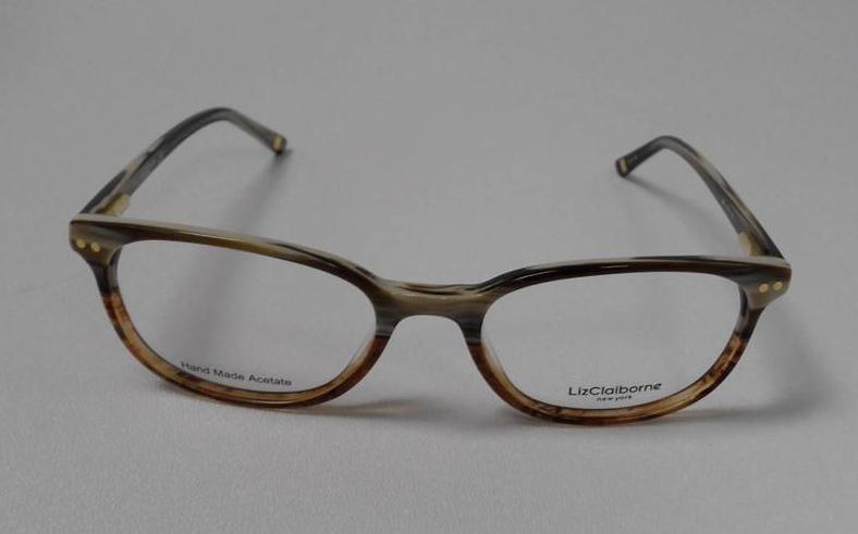 liz claiborne 380 cz2 s51 eyeglasses brown horn gradient