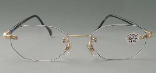 Rimless Octagon Eyeglass Frames : ZiZi Men COOL Rimless Reading Glasses OCTAGON +1.00 eBay