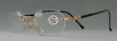 ZiZi Men COOL Rimless Reading Glasses OCTAGON +1.00 eBay