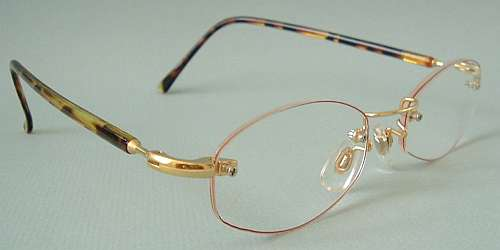 Rimless Glasses Polished Edges : ZiZi Men Rimless Reading Glasses CHESTNUT GOLD +1.00