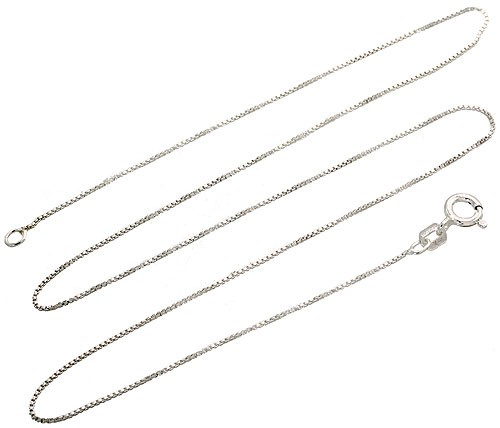 """16"""" Sterling Silver Necklace Italian Box Chain Pure 925 Italy New USA Wholesale"""