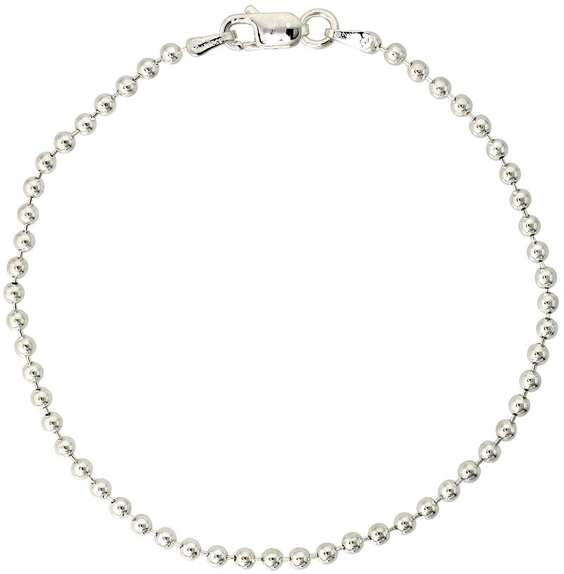 sterling silver italian bead chain 4mm 925 italy new