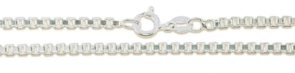 Argent Sterling Boîte Chaîne Véritable Massif 925 Italie Classique nouveau collier