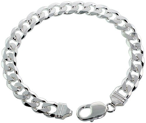 ir curb sterling silver chain filed
