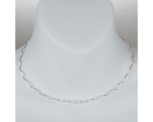 Sterling-Silver-Omega-Necklace-Wave-Snake-Chain-Pure-925-Italy-New-US-Wholesale