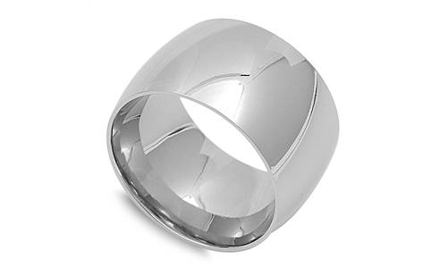 stainless steel s s plain wedding ring thin