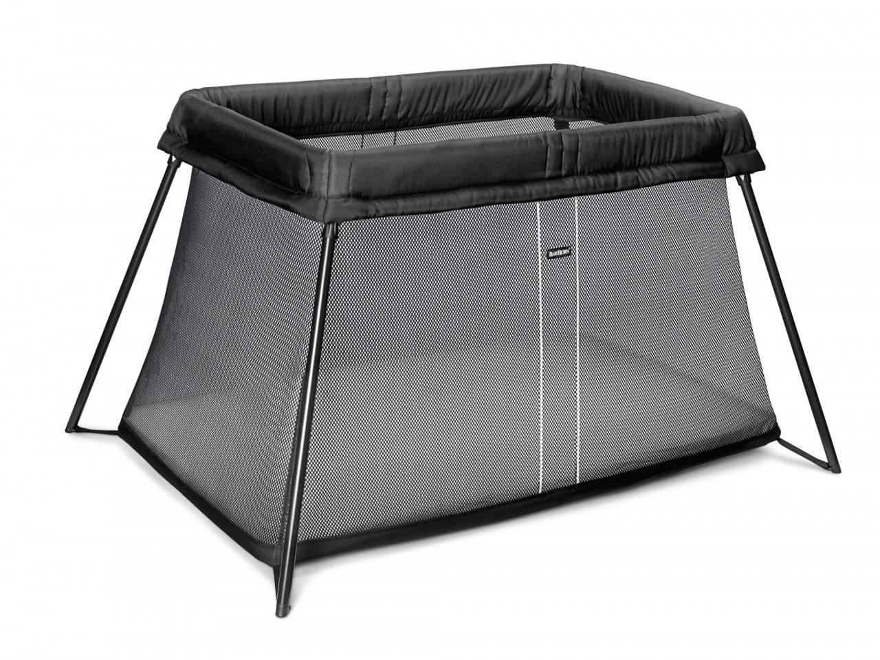 baby bjorn babybjorn travel cot light black mesh ebay. Black Bedroom Furniture Sets. Home Design Ideas