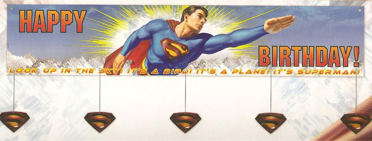 Superman-Super-Hero-B-039-day-Party-Banner-gt-gt-60-034-X-12-034
