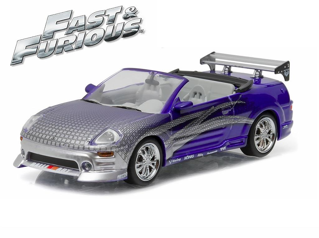 Motor City Auto Auction >> ROMAN'S 2001 MITSUBISHI ECLIPSE SPYDER 2 FAST 2 FURIOUS 1:43 GREENLIGHT 86210 | eBay