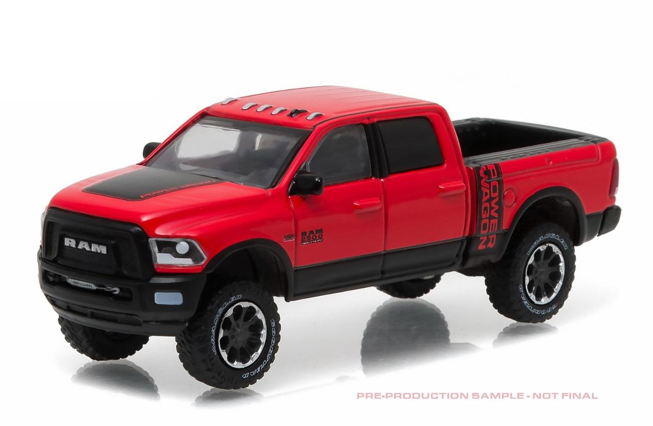 greenlight 29873 2017 dodge ram 2500 truck power wagon red black diecast 1 64 ebay. Black Bedroom Furniture Sets. Home Design Ideas