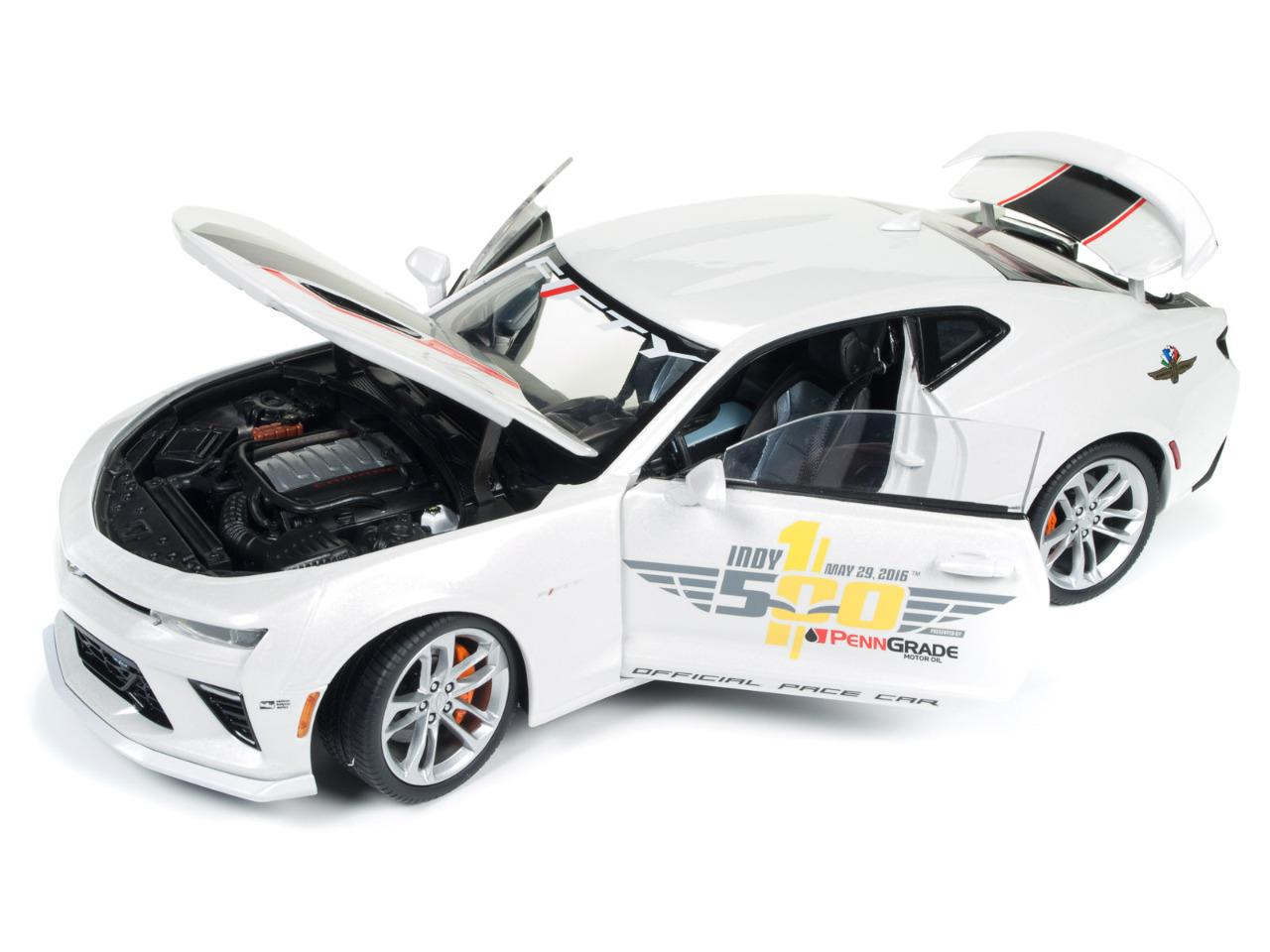 Auto World Aw236 2017 Chevy Camaro Indy 500 Pace Diecast Car 1 18 New